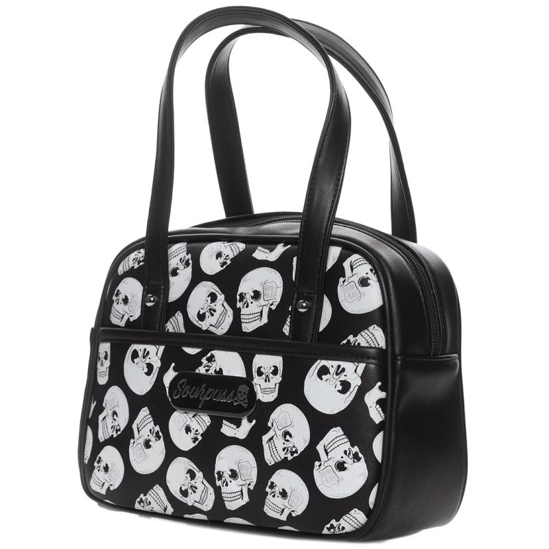 Skulls Mini Bowler Purse by Sourpuss Clothing 1