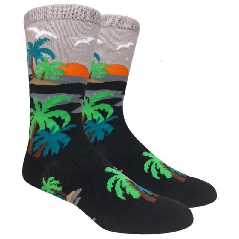 Sunset Palm Tree Socks
