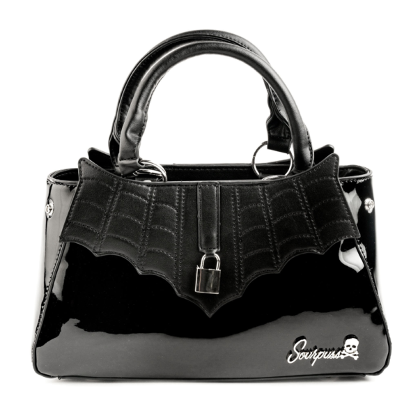 Locked Out Glossy Black Purse