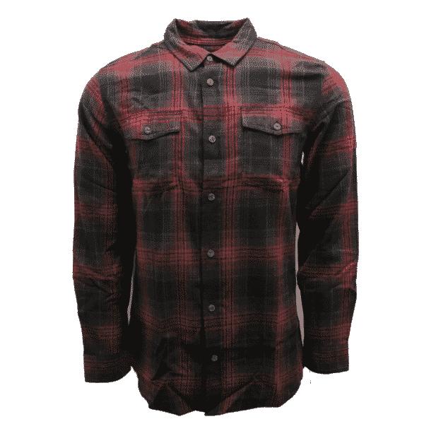 Crimson Red Plaid Flannel