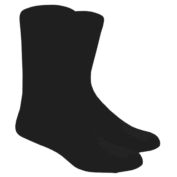 Plain Black Crew Socks