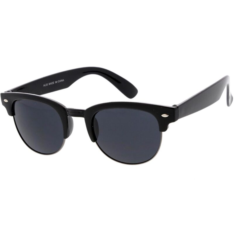 Black Sunglasses Clubmaster Style