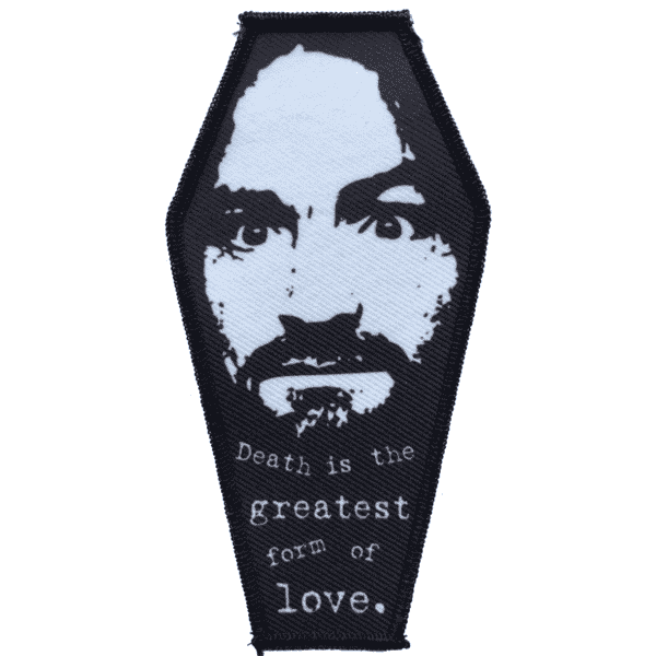 Charles Manson Coffin Embroidered Patch