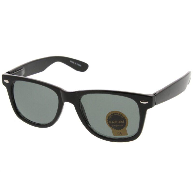 Plain Black Sunglasses Wayfarer Style